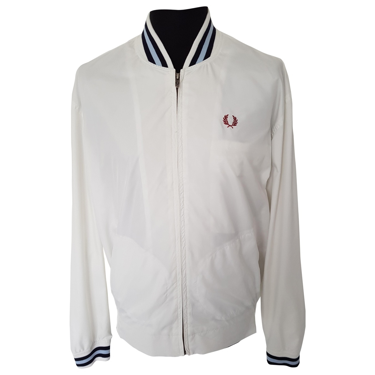 Fred Perry \N Jacke in  Weiss Polyester