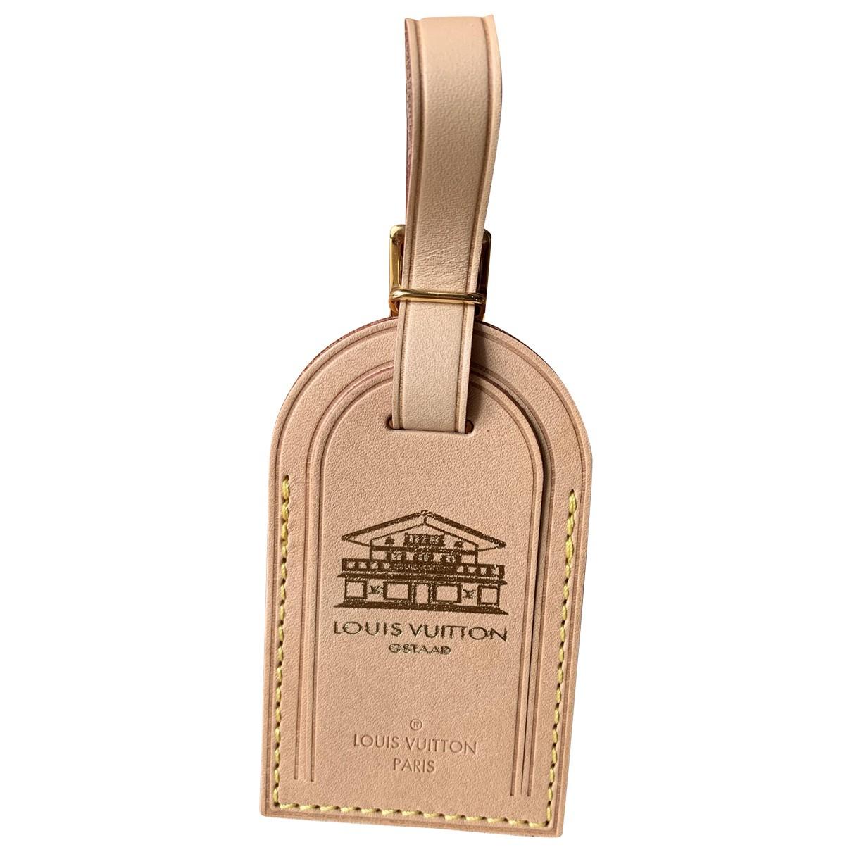 Louis Vuitton - Petite maroquinerie Porte adresse pour femme en cuir - beige