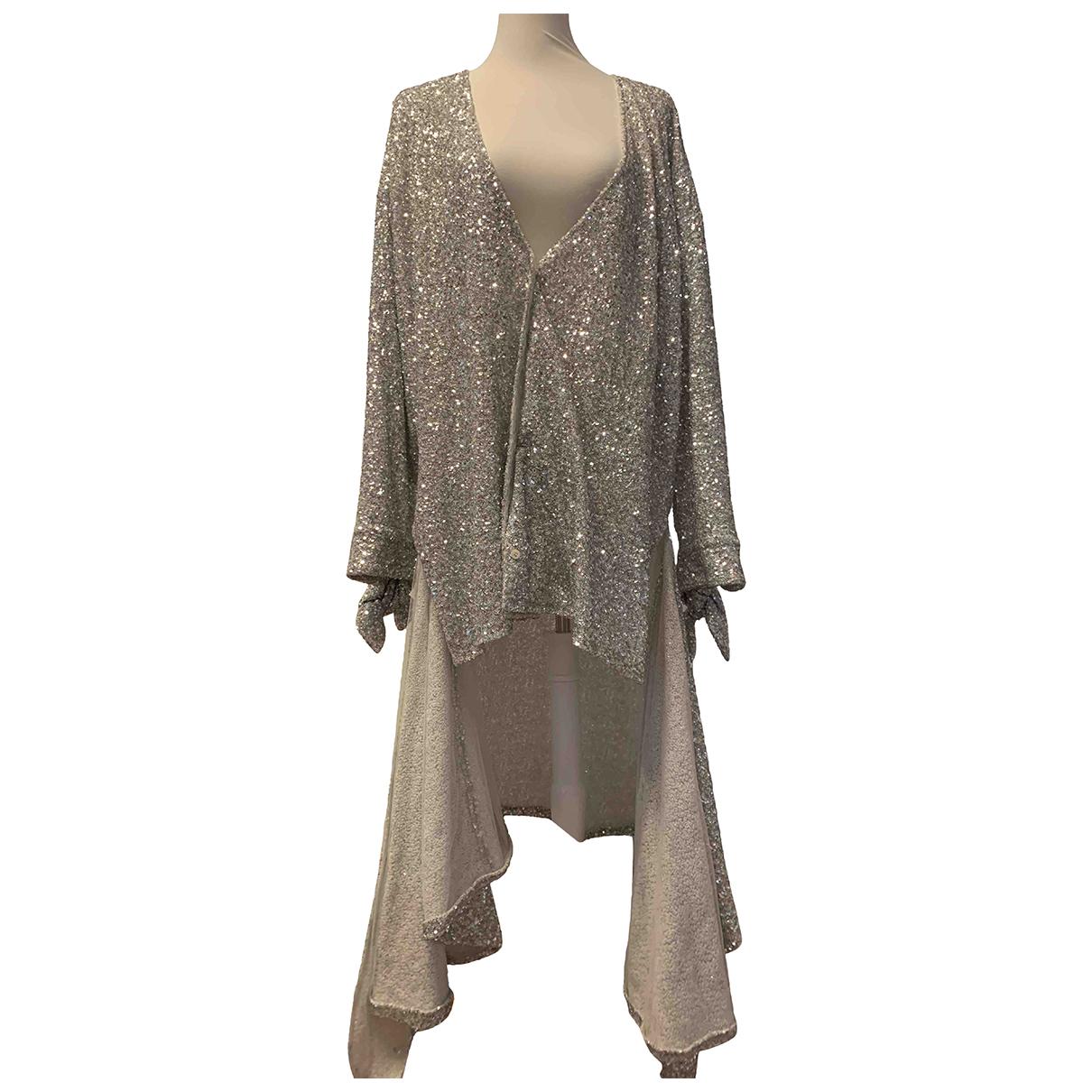 Attico - Robe   pour femme en a paillettes - argente