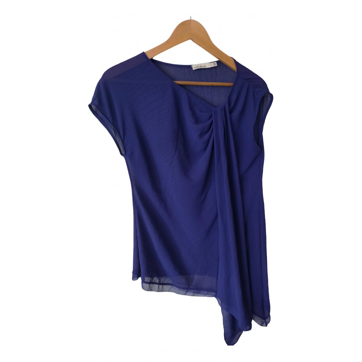 Karen Millen - Top   pour femme - bleu