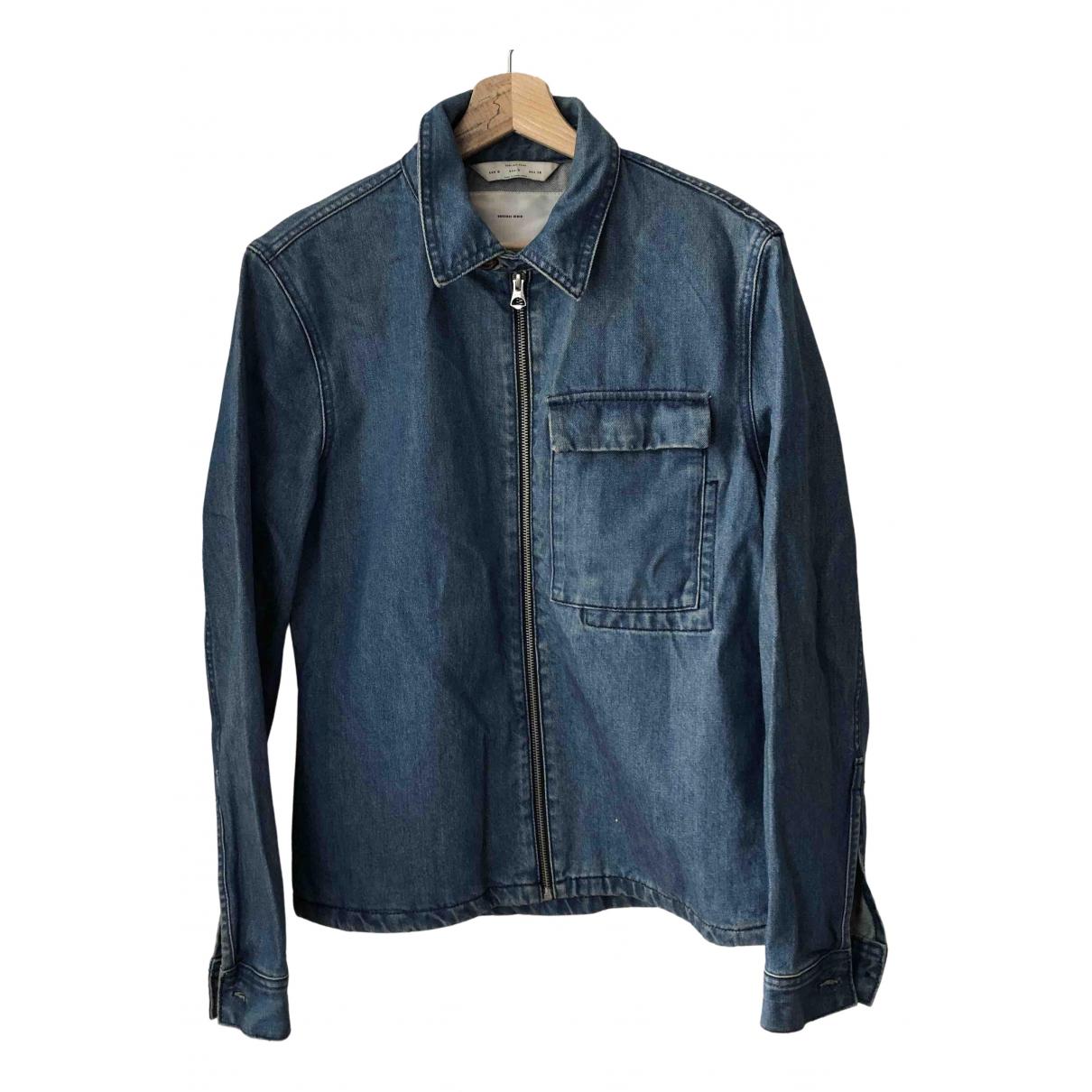 Zara - Vestes.Blousons   pour homme en denim - bleu