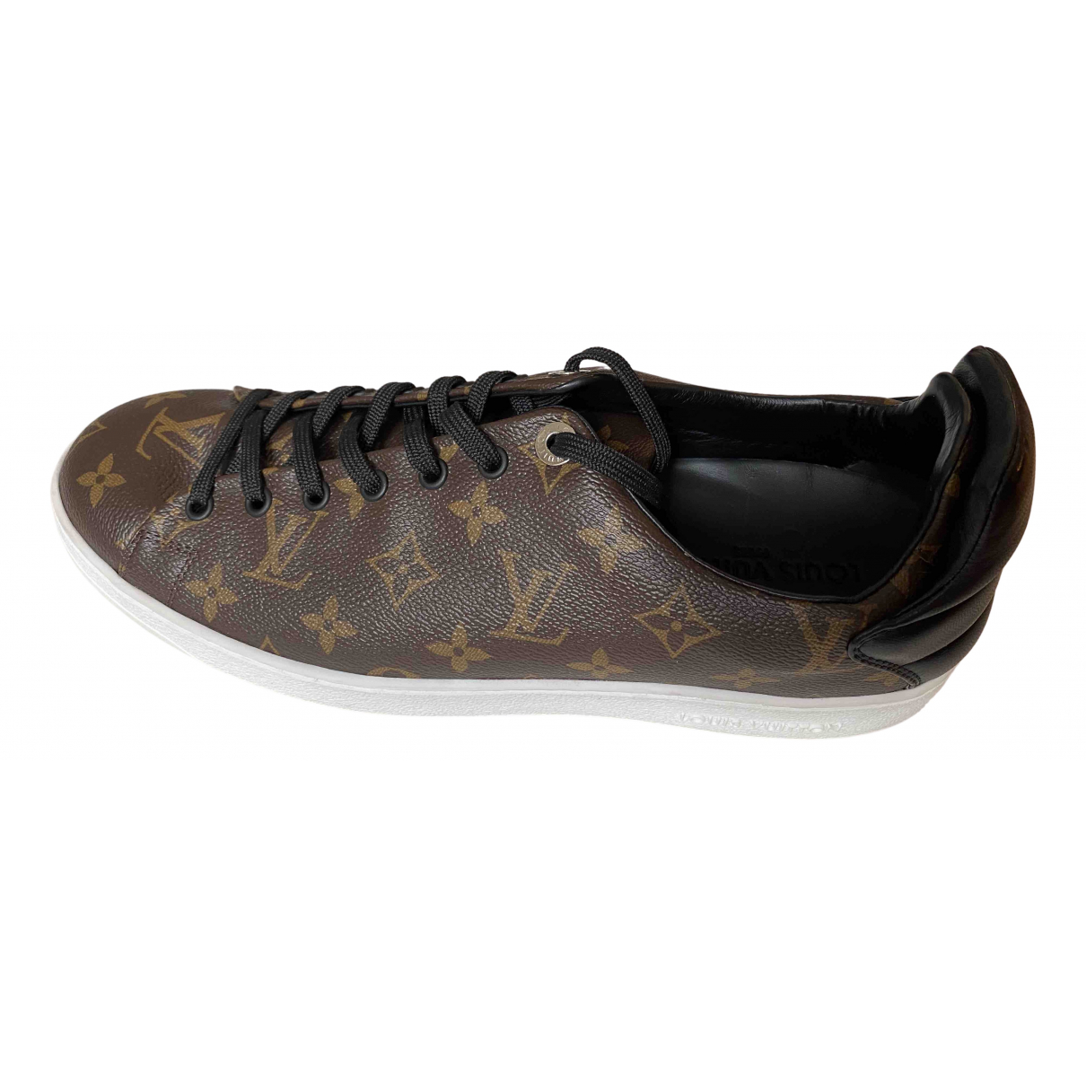 Louis Vuitton Frontrow Brown Cloth Trainers for Men 9.5 US