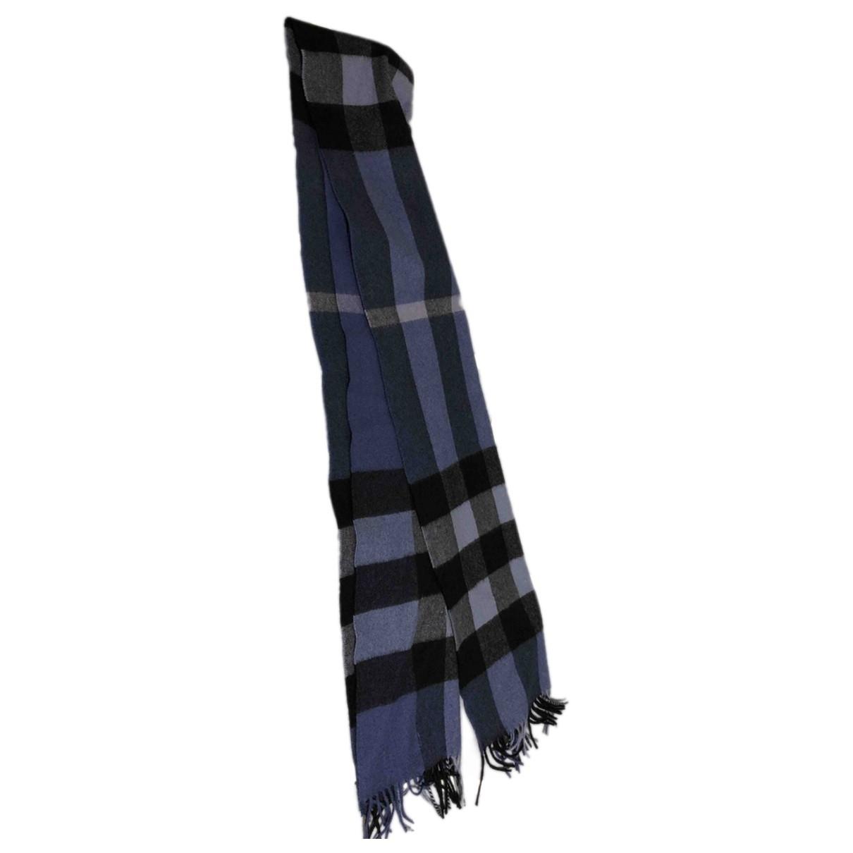 Burberry - Foulard   pour femme en cachemire - bleu