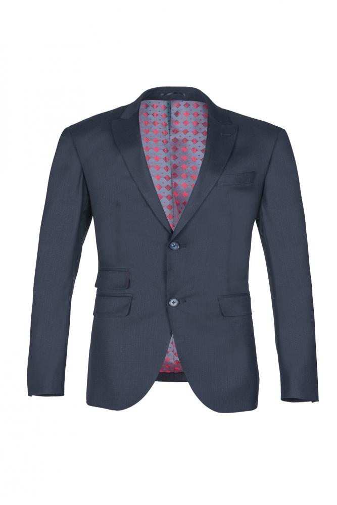Breasted - Black Peak - Revers mit zwei Knopfen und schmalem, klassischem Anzug