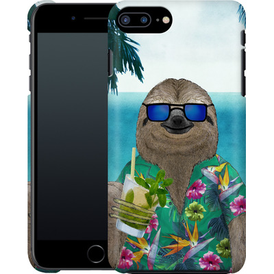 Apple iPhone 8 Plus Smartphone Huelle - Summer Sloth Drinking Mojito von Barruf
