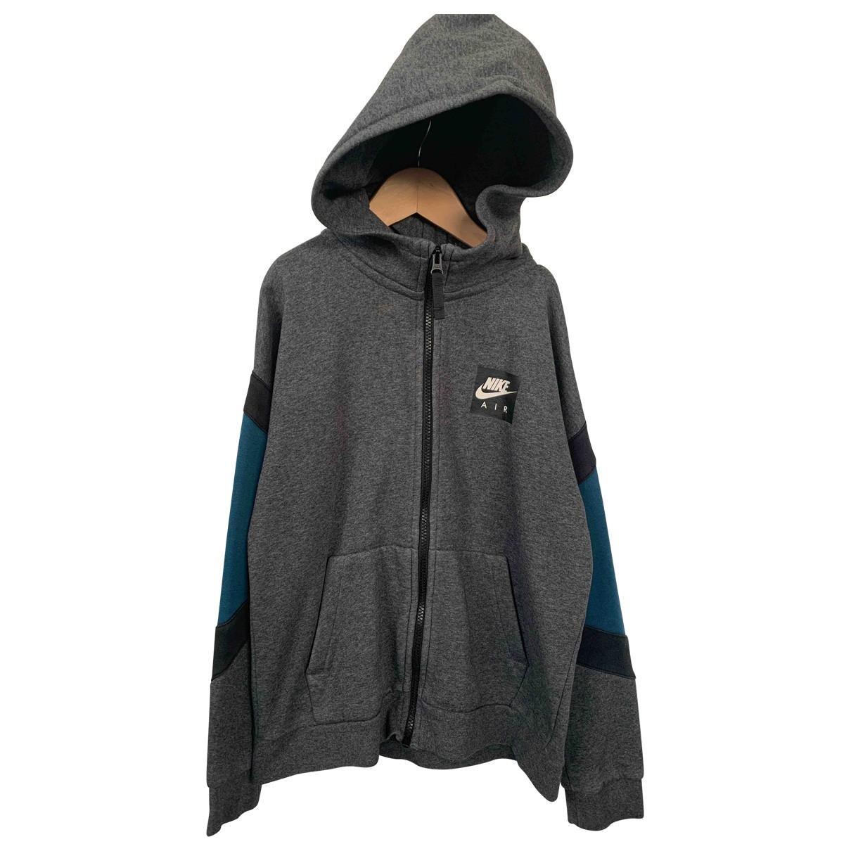 Nike \N Jacke, Maentel in  Grau Baumwolle