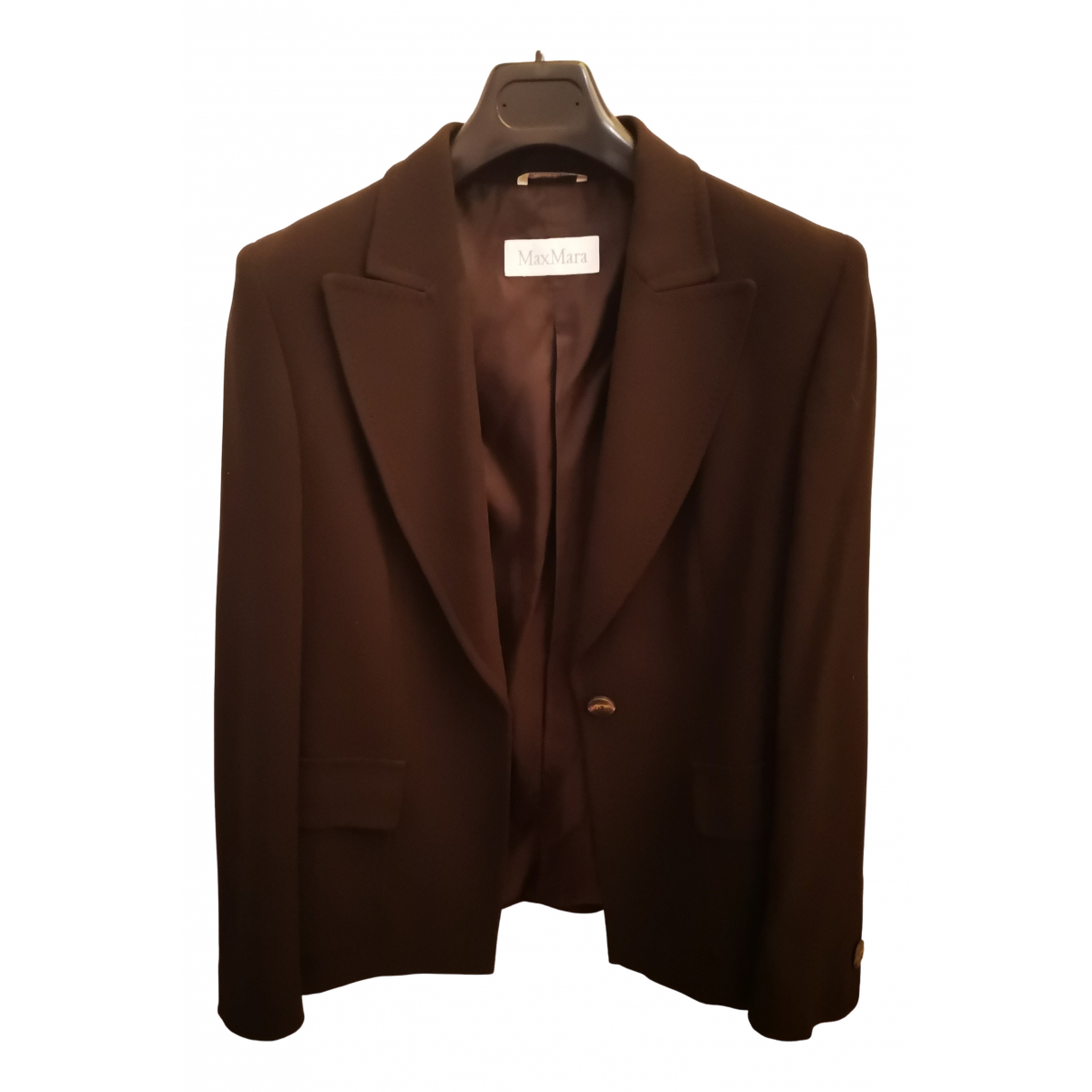 Max Mara N Brown Wool jacket for Women 44 IT