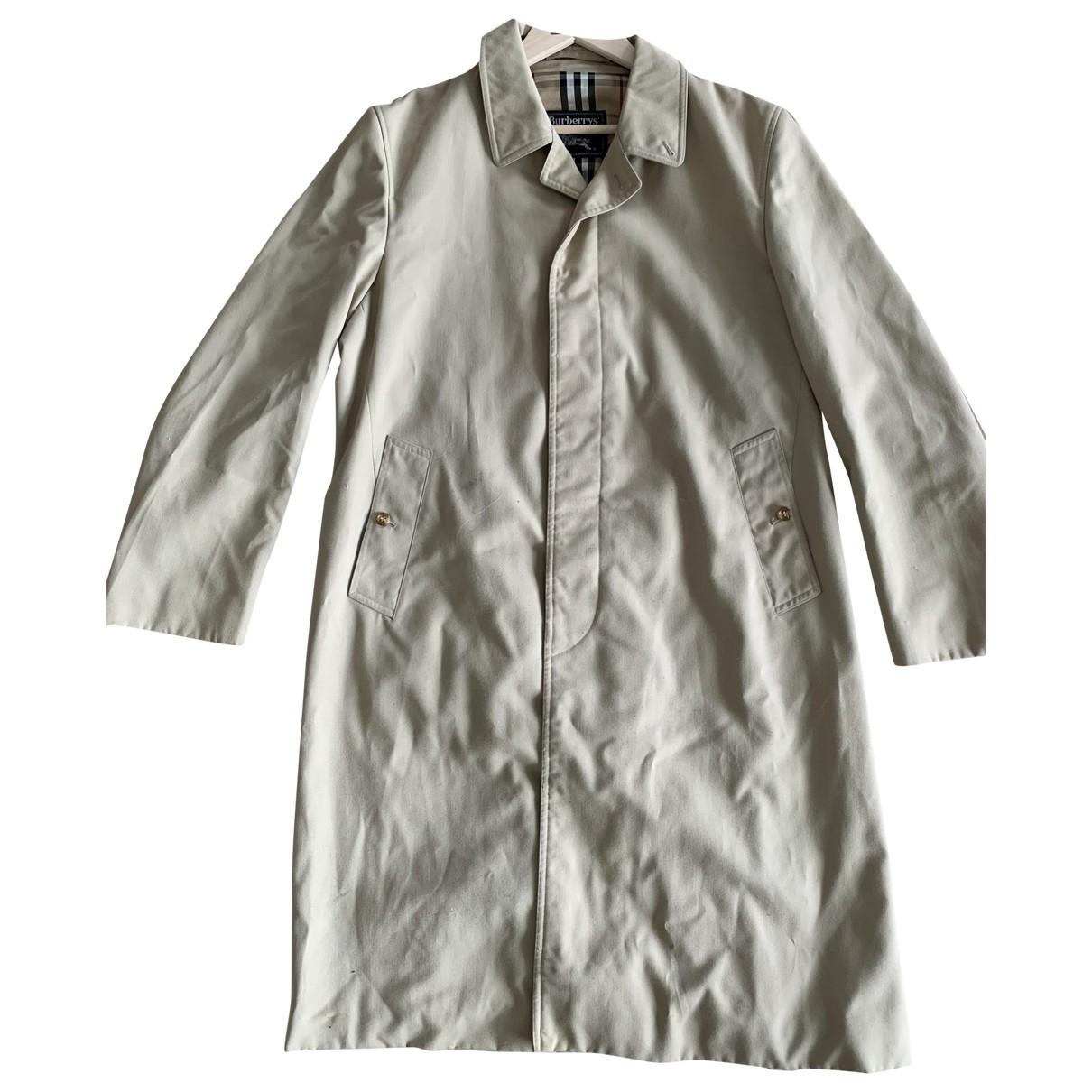 Burberry \N Beige Cotton coat  for Men XL International