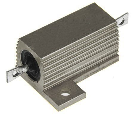 RS PRO Aluminium Housed Axial Wirewound Wire Wound Fixed Resistor, 2.7Ω ±5% 25W (5)