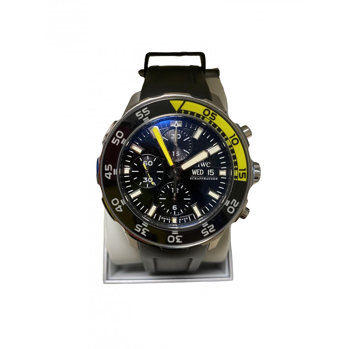 Iwc Aquatimer Uhr in  Schwarz Stahl