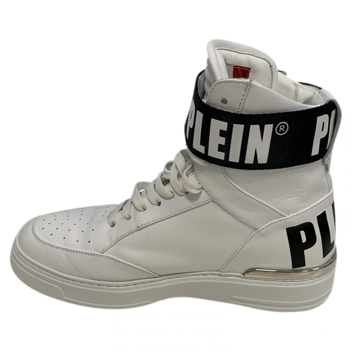 Philipp Plein Money Beast Sneakers in  Weiss Leder