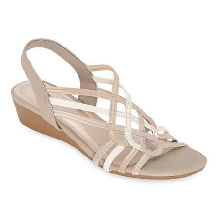 east 5th Womens Reno Wedge Sandals, 11 Medium, Beige