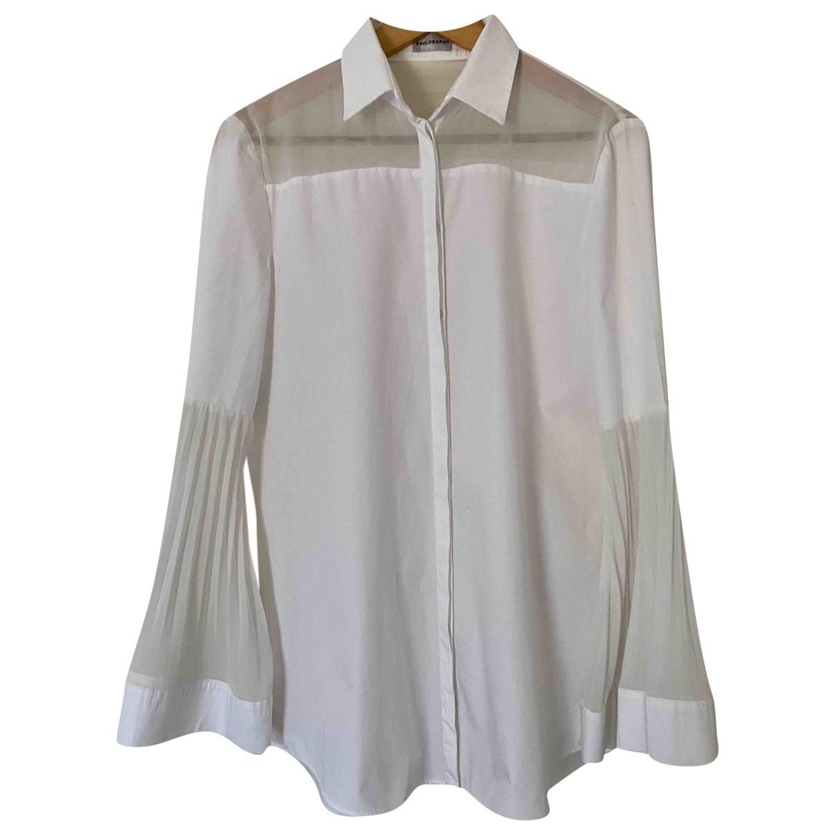 Philosophy Di Alberta Ferretti - Top   pour femme en coton - blanc