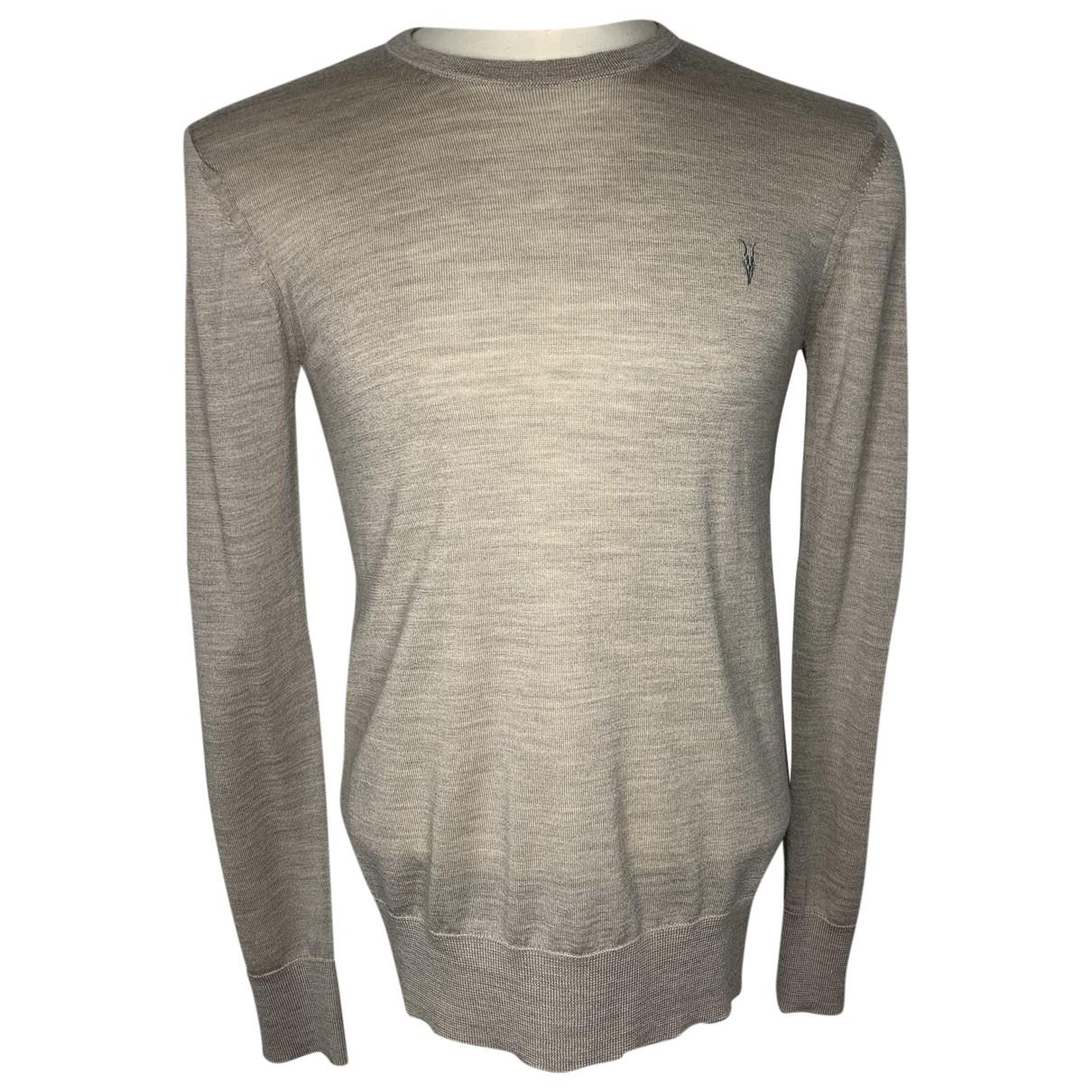 All Saints \N Pullover.Westen.Sweatshirts  in  Beige Wolle