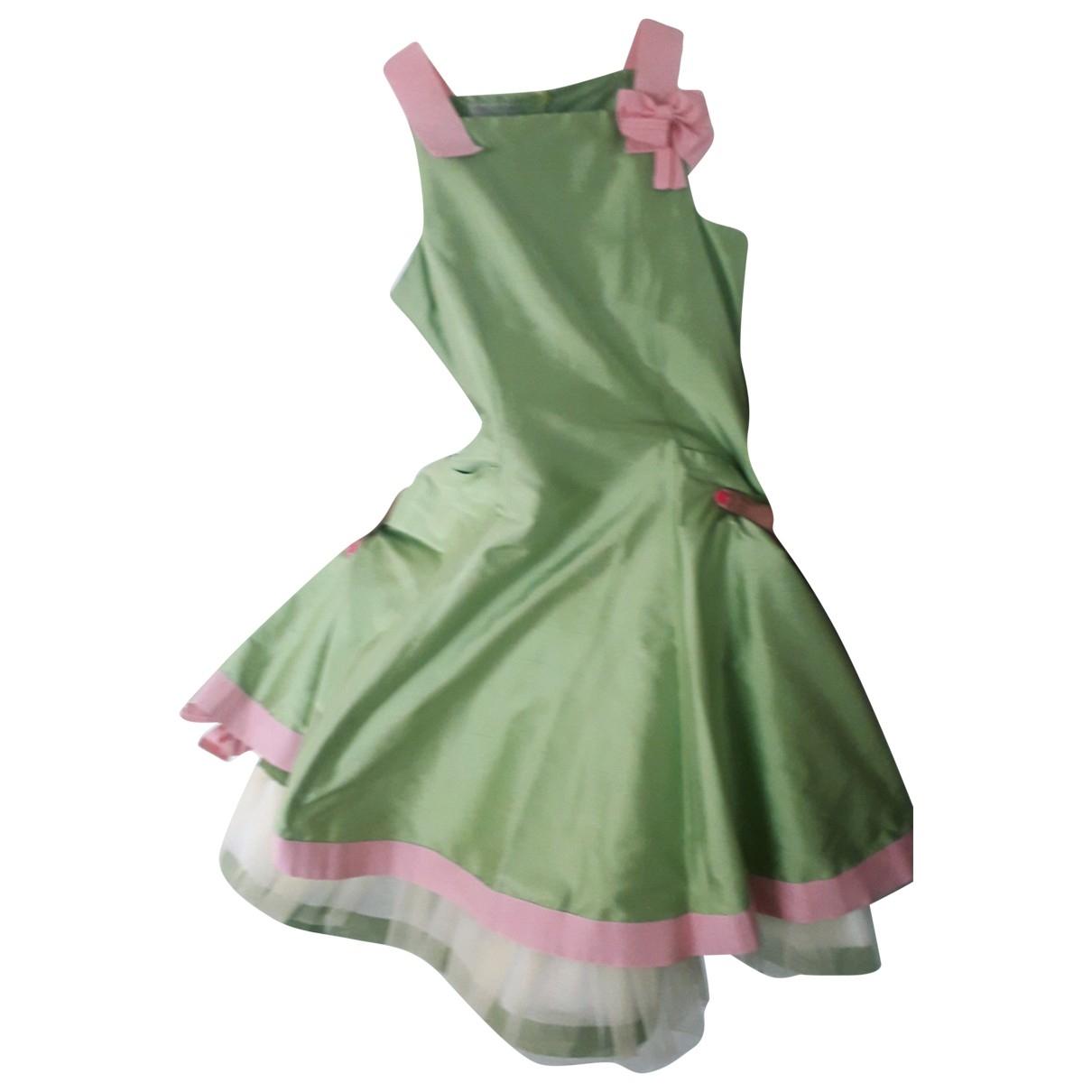 I Pinco Pallino - Robe    pour enfant en soie - vert