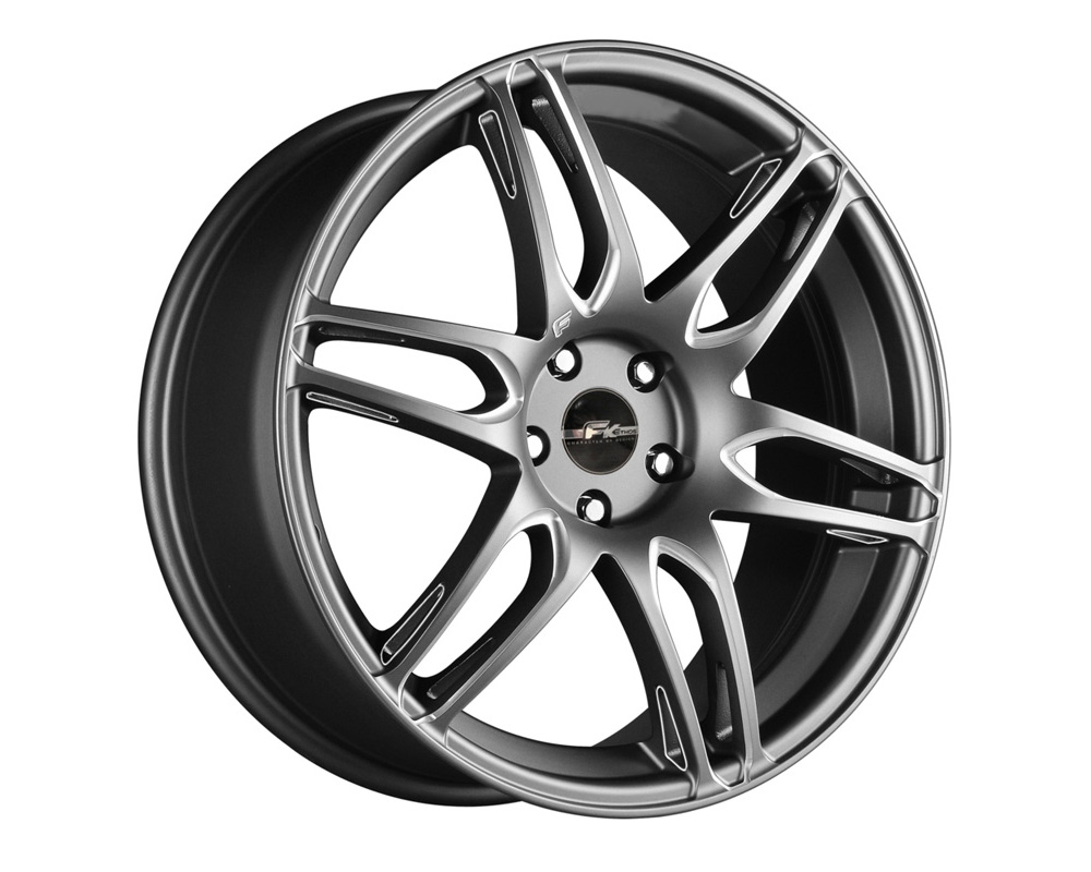 FK Ethos RT61861004 RT-6 Gunmetal Ball Cut Machined Wheel 18x8 5x120 35
