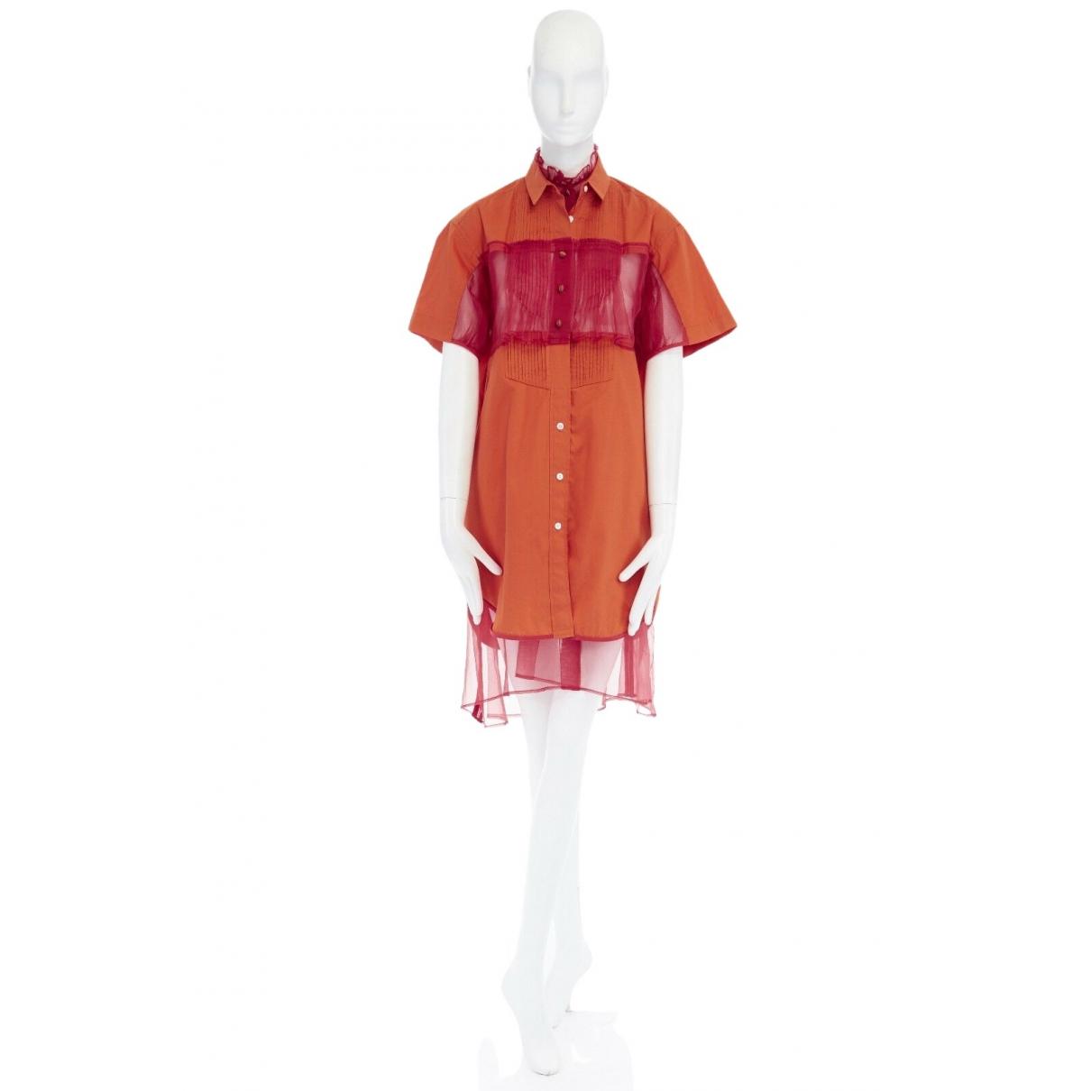 Sacai \N Kleid in  Orange Baumwolle