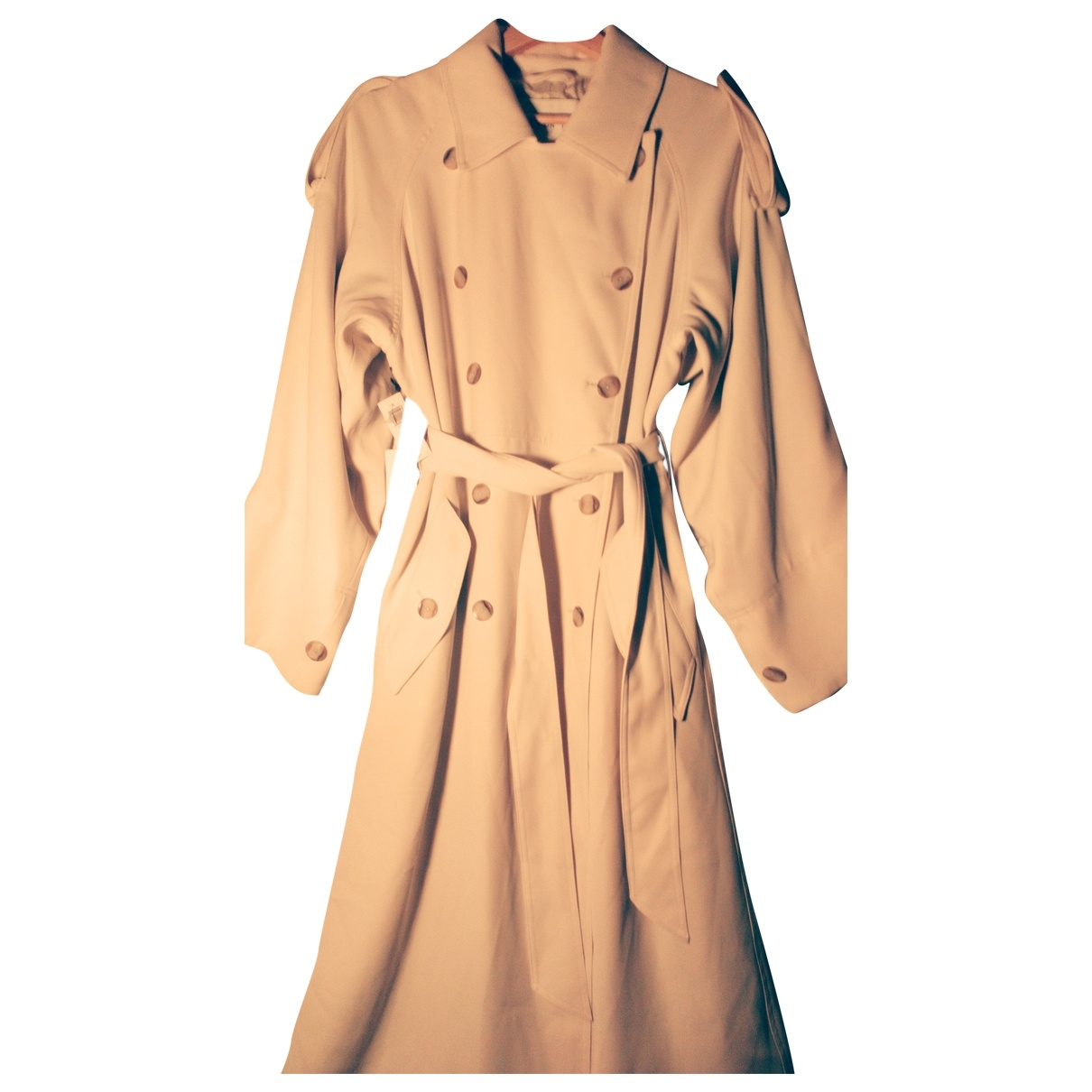 Non Signé / Unsigned \N Beige coat for Women 10 UK