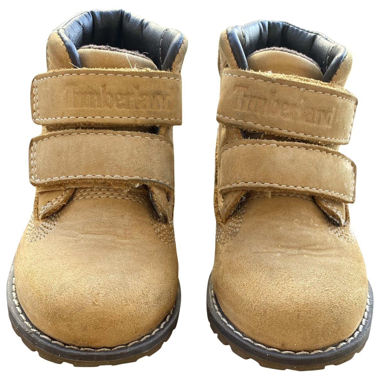Timberland \N Yellow Leather Boots for Kids 21 EU