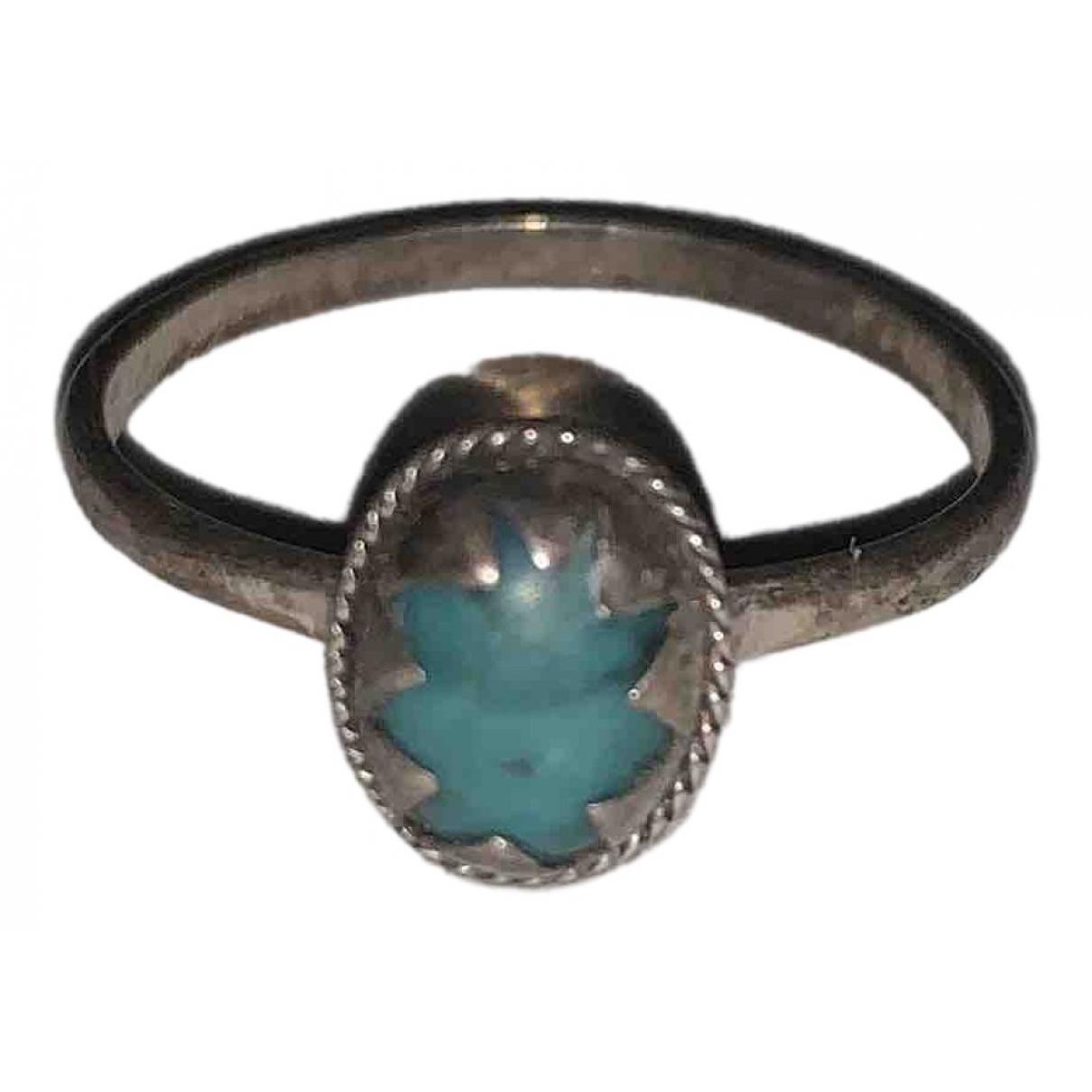 - Bague Turquoises pour femme en metal - argente