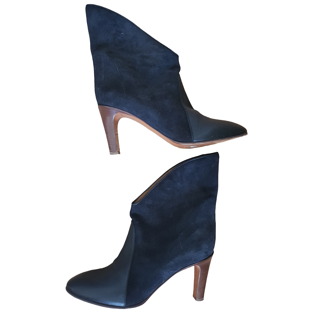 Chloé \N Black Suede Boots for Women 39.5 EU
