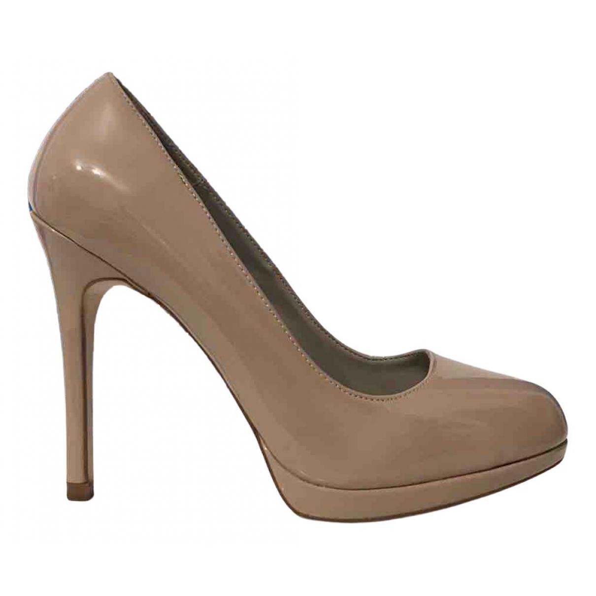Zara N Beige Patent leather Heels for Women 39 EU