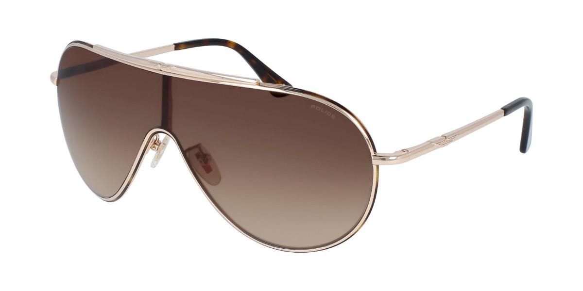 Police SPL964 ORIGINS 10 0330 Men's Sunglasses Gold Size 99