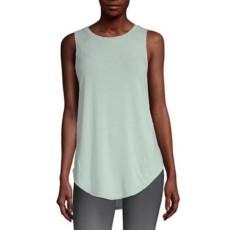 Xersion Womens Round Neck Sleeveless Tank Top, Small , Green