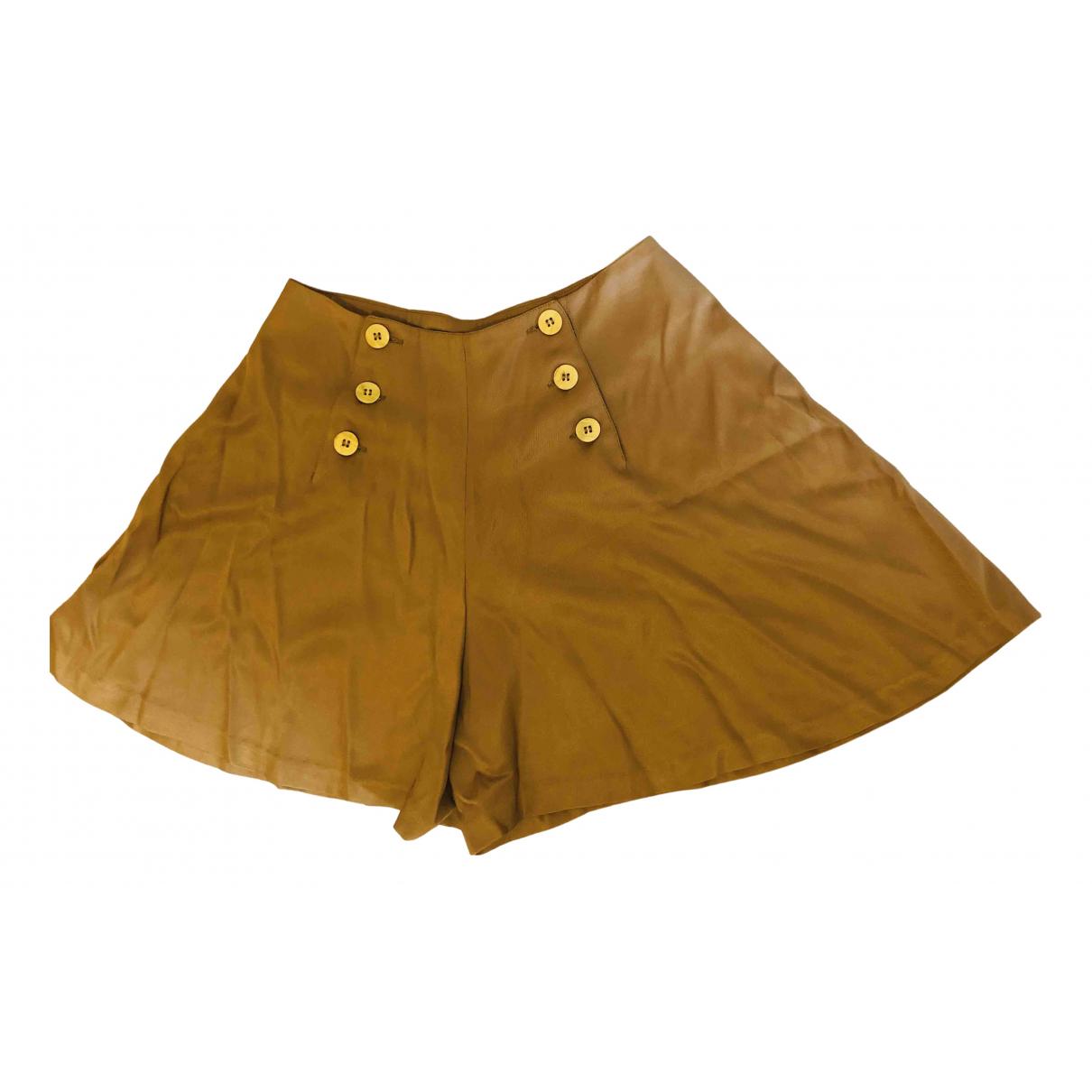 Plein Sud \N Shorts in  Kamel Seide