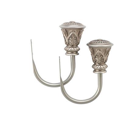 Bali Garden Trumpet Set of 2 Holdbacks, One Size , Silver