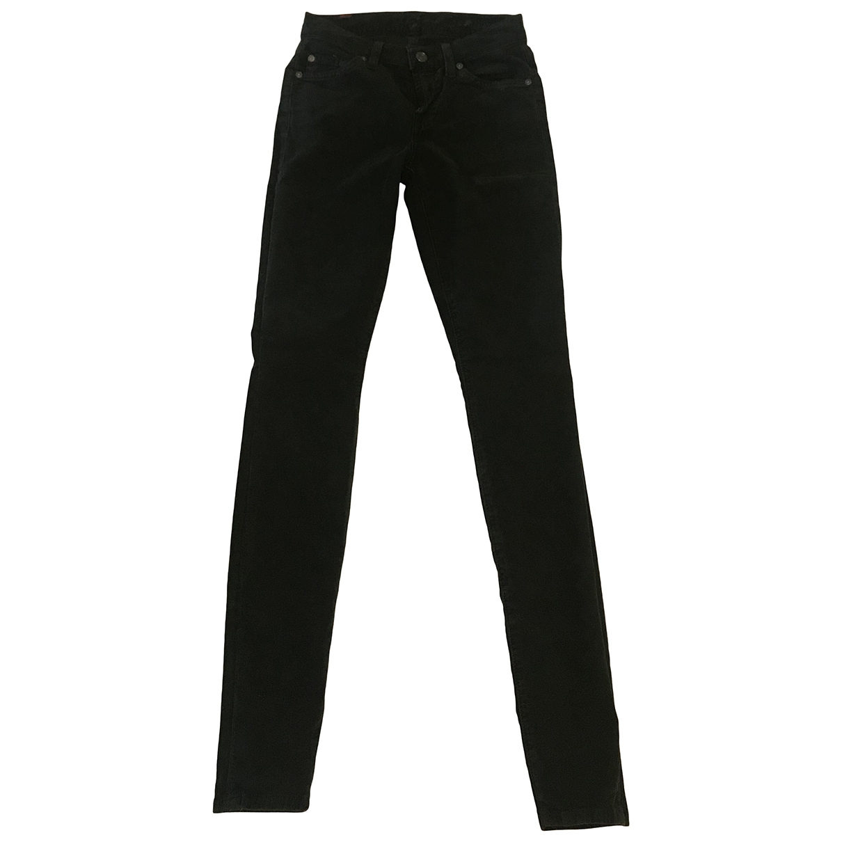 7 For All Mankind \N Green Cotton - elasthane Jeans for Women 24 US