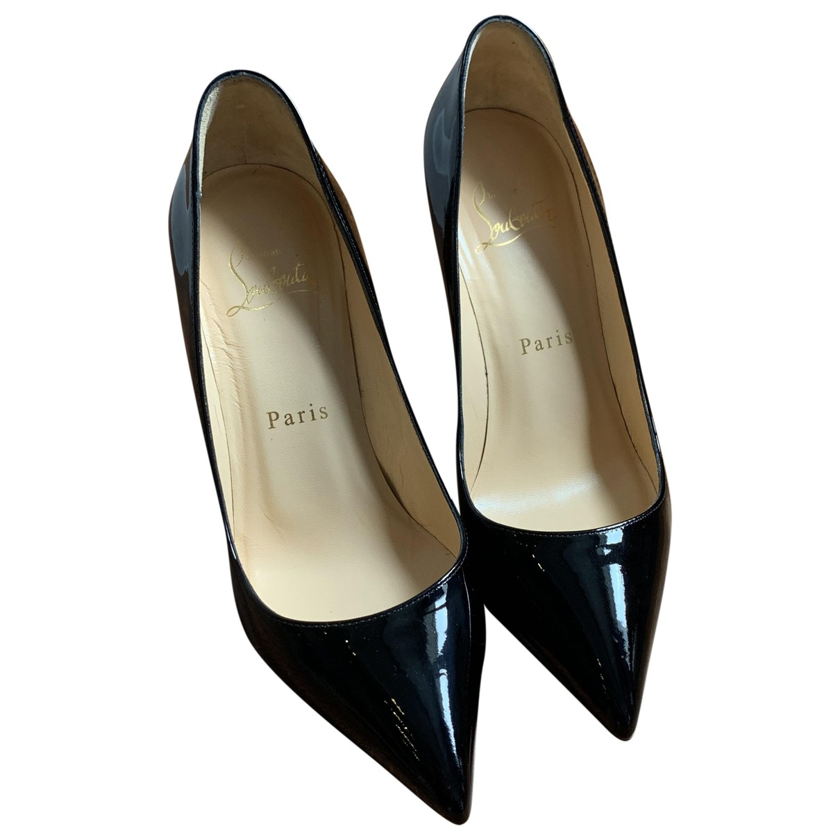 Christian Louboutin Pigalle Black Patent leather Heels for Women 35 EU