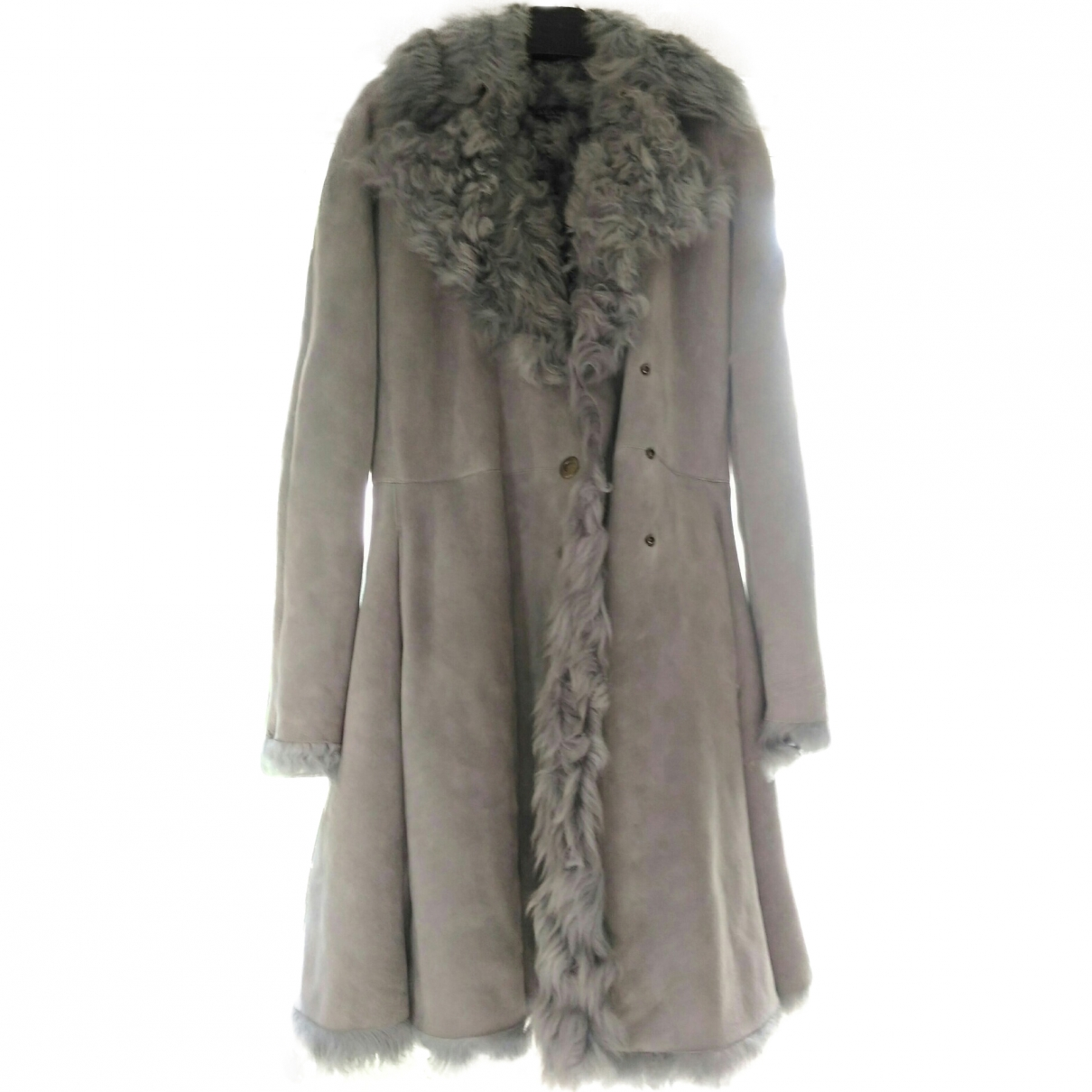 Alaïa \N Grey Shearling coat for Women 42 FR