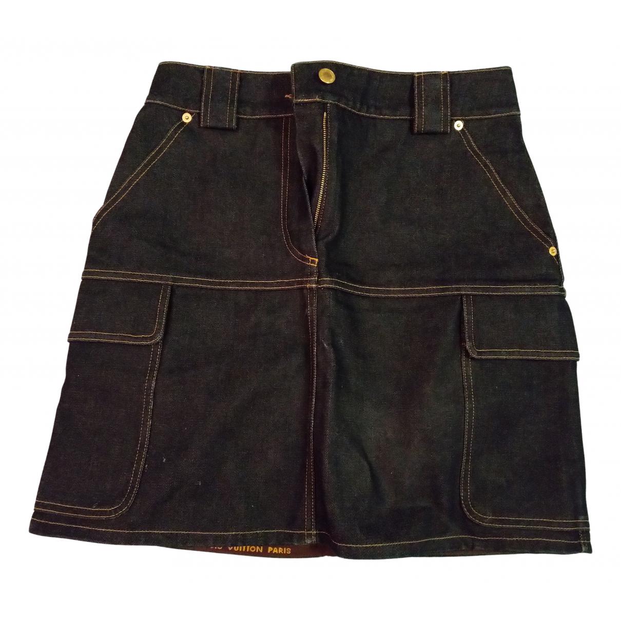 Louis Vuitton N Navy Denim - Jeans skirt for Women 40 FR