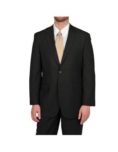 Mens Black Button Suit Separates Any Size Jacket Any Size Pants