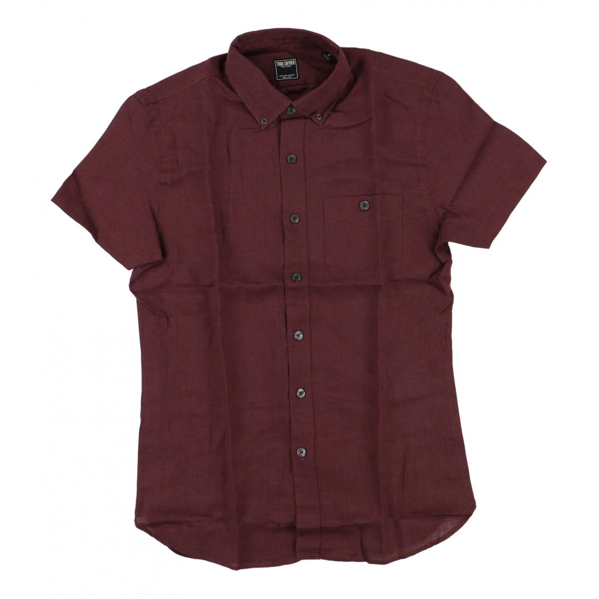 Non Signé / Unsigned \N Purple Linen Shirts for Men M International