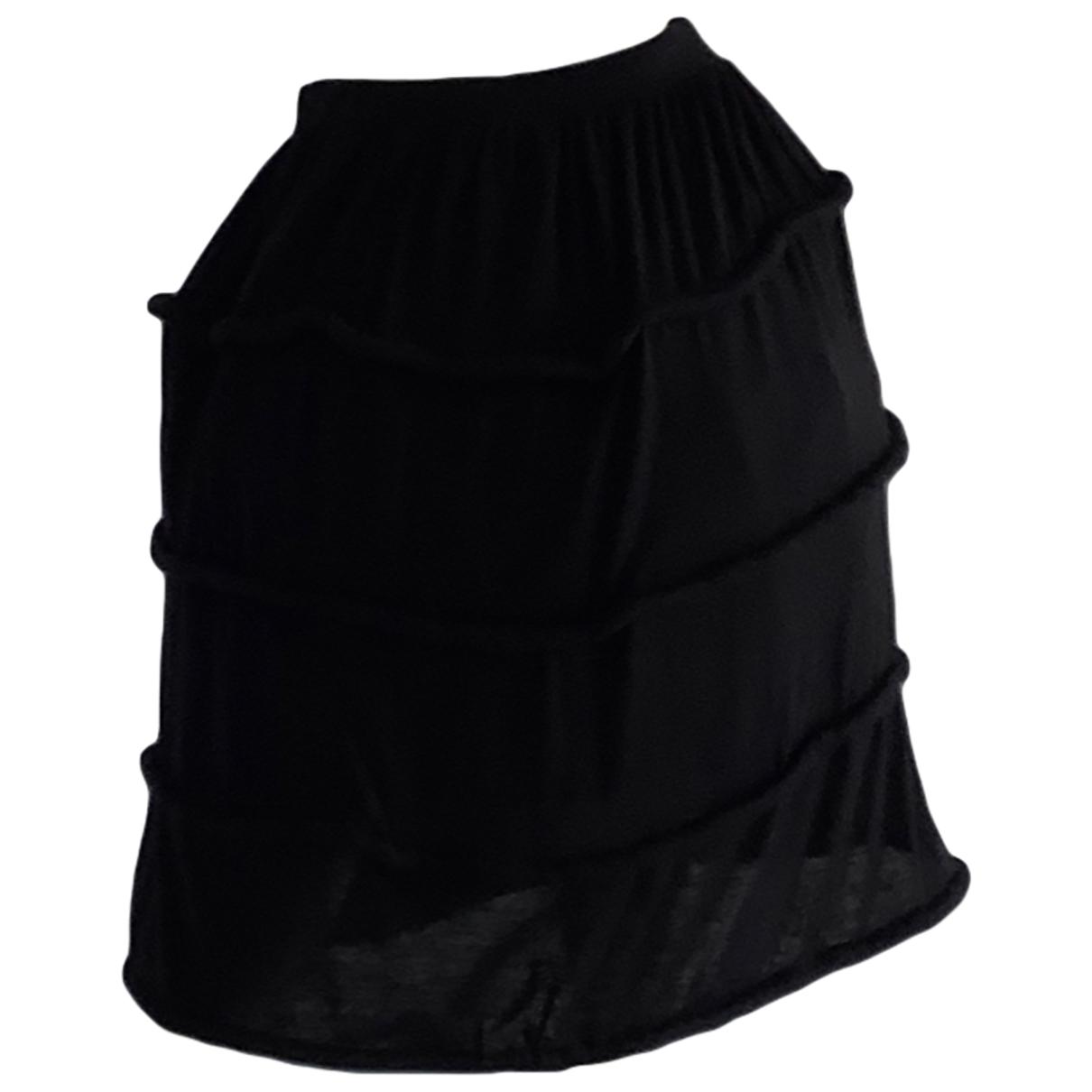 - Jupe Oversize pour femme en laine - noir