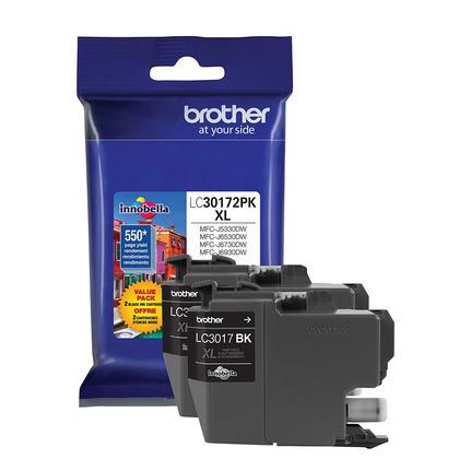 Brother LC30172PKS Original Black Ink Cartridge High Yield