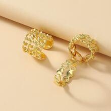 3 piezas anillo con abertura