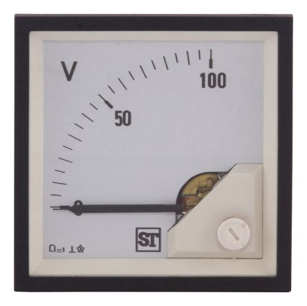 Sifam Tinsley DC Analogue Voltmeter, 100V, 92 x 92 mm,