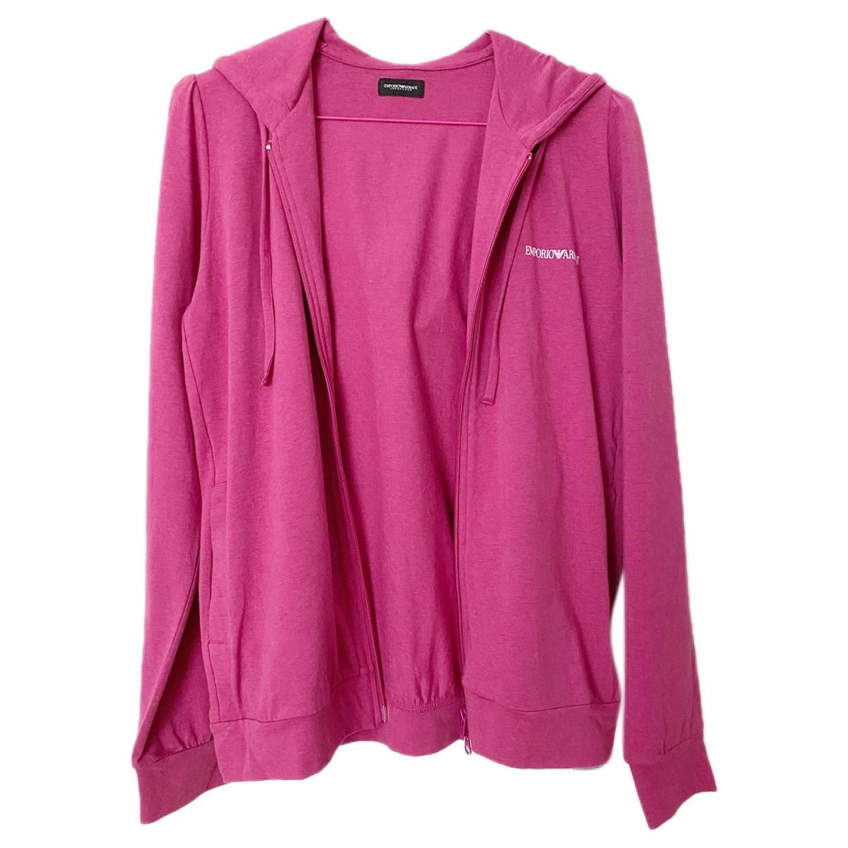 Emporio Armani - Pull   pour femme en coton - rose