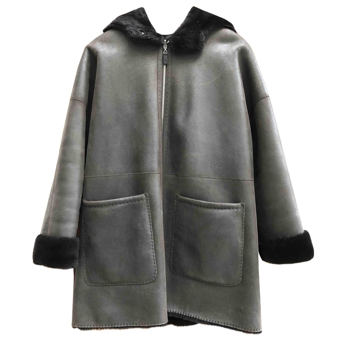 Ventcouvert \N Maentel in  Braun Wolle