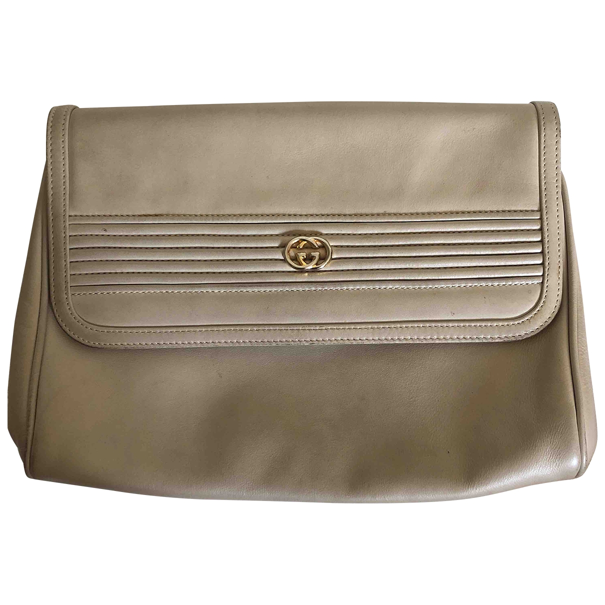 Gucci \N Beige Leather Clutch bag for Women \N