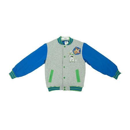 Disney Toy Story 4 Collection Little & Big Boys Varsity Jacket, 7/8 , Green