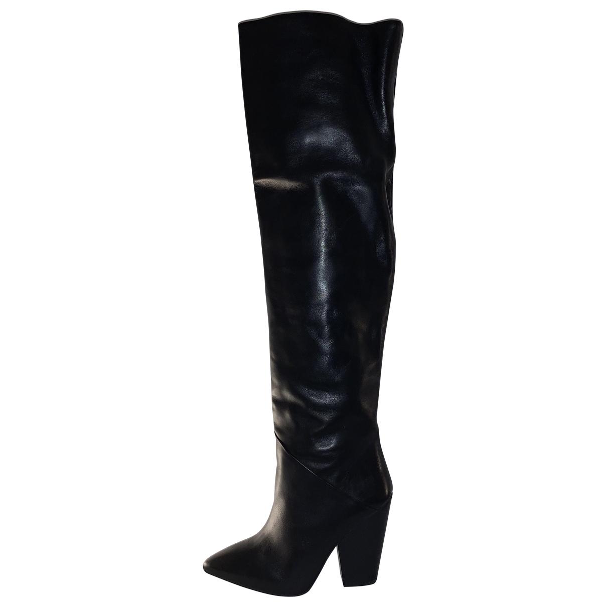 Berenice \N Stiefel in  Schwarz Leder
