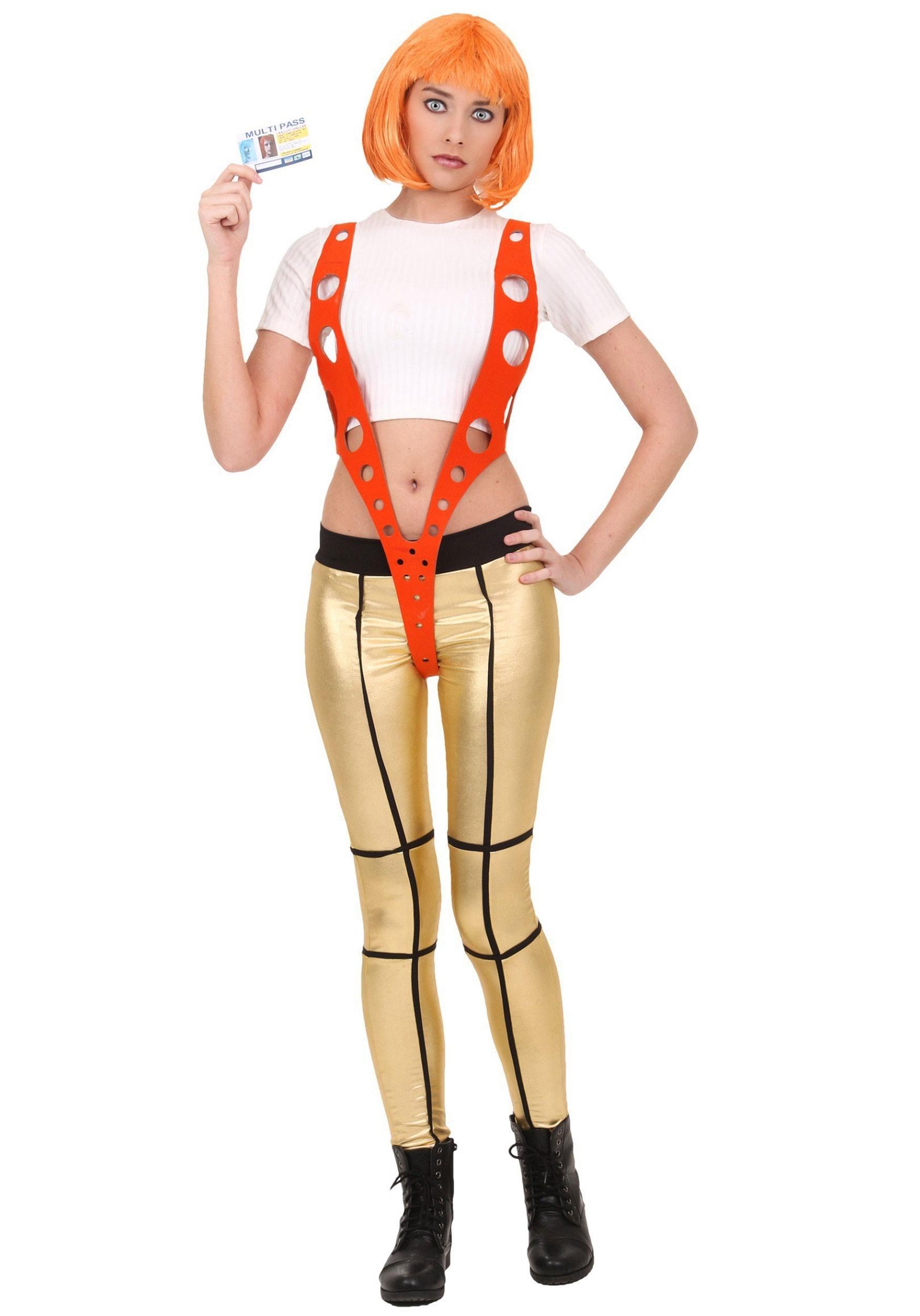 5th Element Leeloo Orange Harness Costume   Exclusive