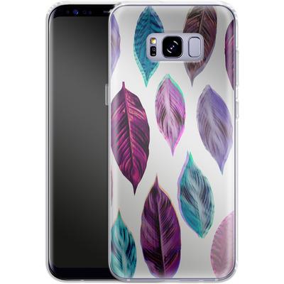 Samsung Galaxy S8 Plus Silikon Handyhuelle - Pink Leaves 2 von Mareike Bohmer