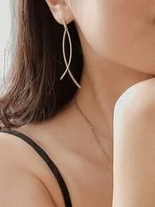 1pair Bar Dangle Earrings