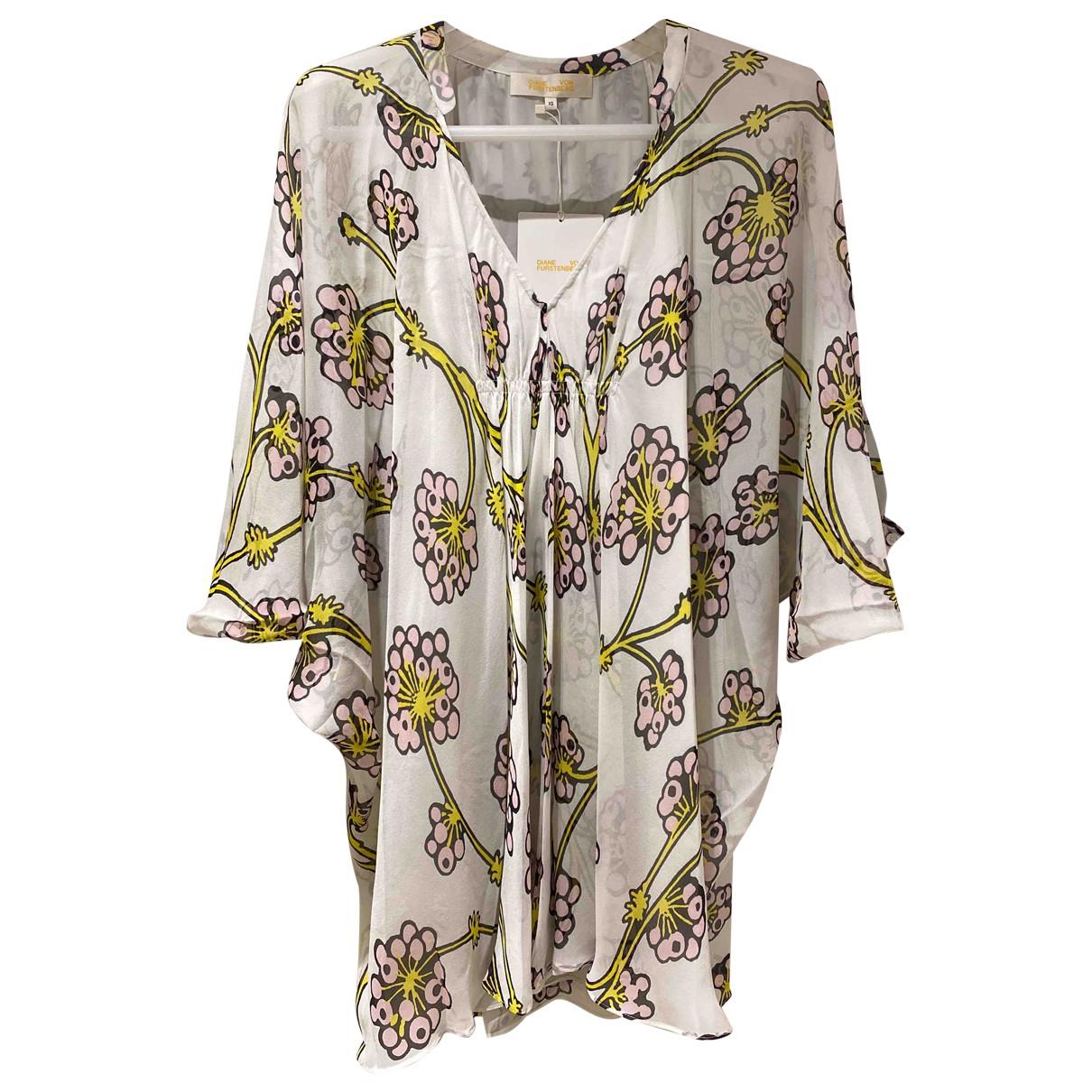 Diane Von Furstenberg N White Silk dress for Women XS International