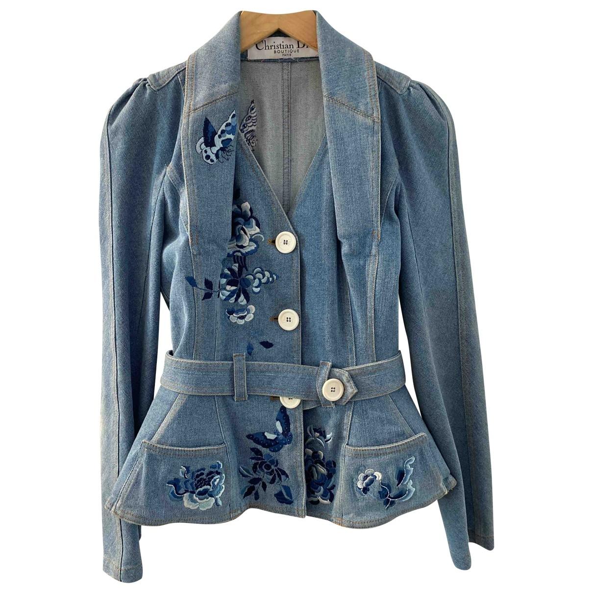 Christian Dior - Veste   pour femme en denim - bleu